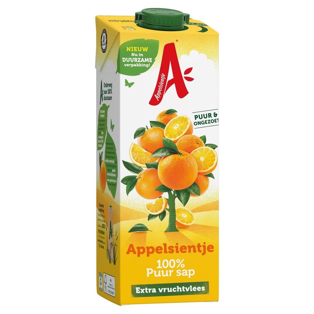 Productafbeelding Appelsientje vruchtensap sinaasappel extra vruchtvlees 1 lt pak met punt