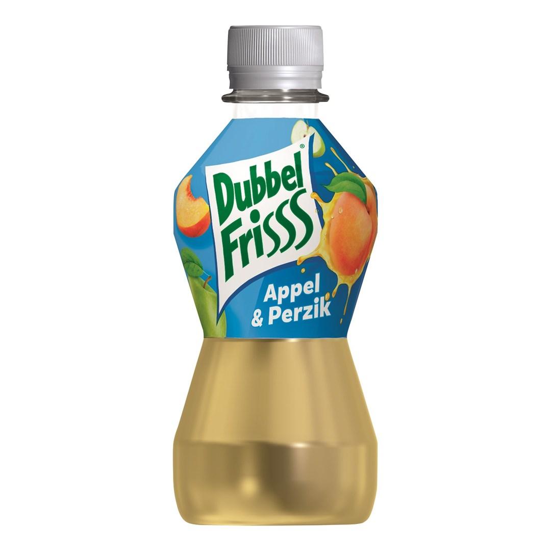 Productafbeelding Dubbelfrisss vruchtendrank appel perzik 275 ml fles