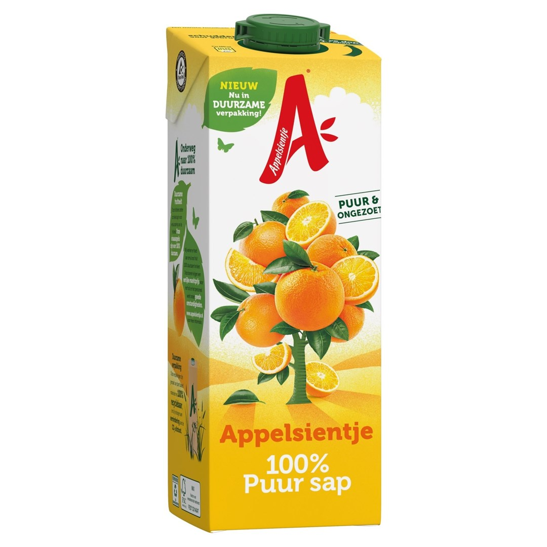 Productafbeelding Appelsientje vruchtensap sinaasappel 1 lt pak met punt