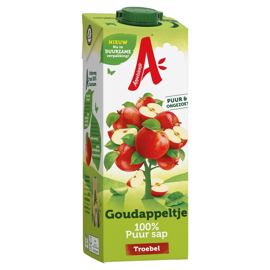 Productafbeelding Appelsientje vruchtensap goudappel Troebel 1 lt pak met punt
