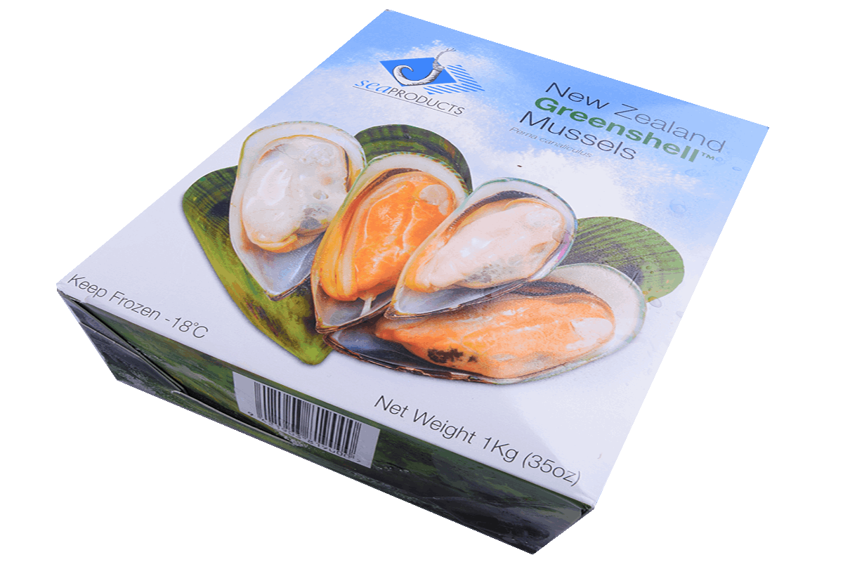 Productafbeelding GREENLIP MUSSEL HALF SHELL BEVR. A 1 KG