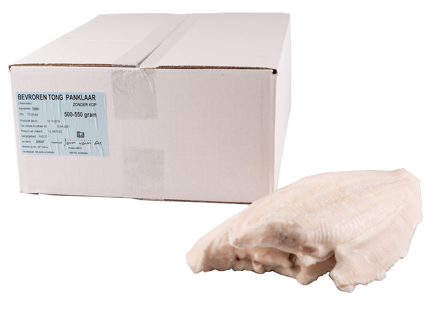 Productafbeelding TONG  BEVROREN 500-550 GRAM NETTO ZONDER KOP BILTSCHE HOEK