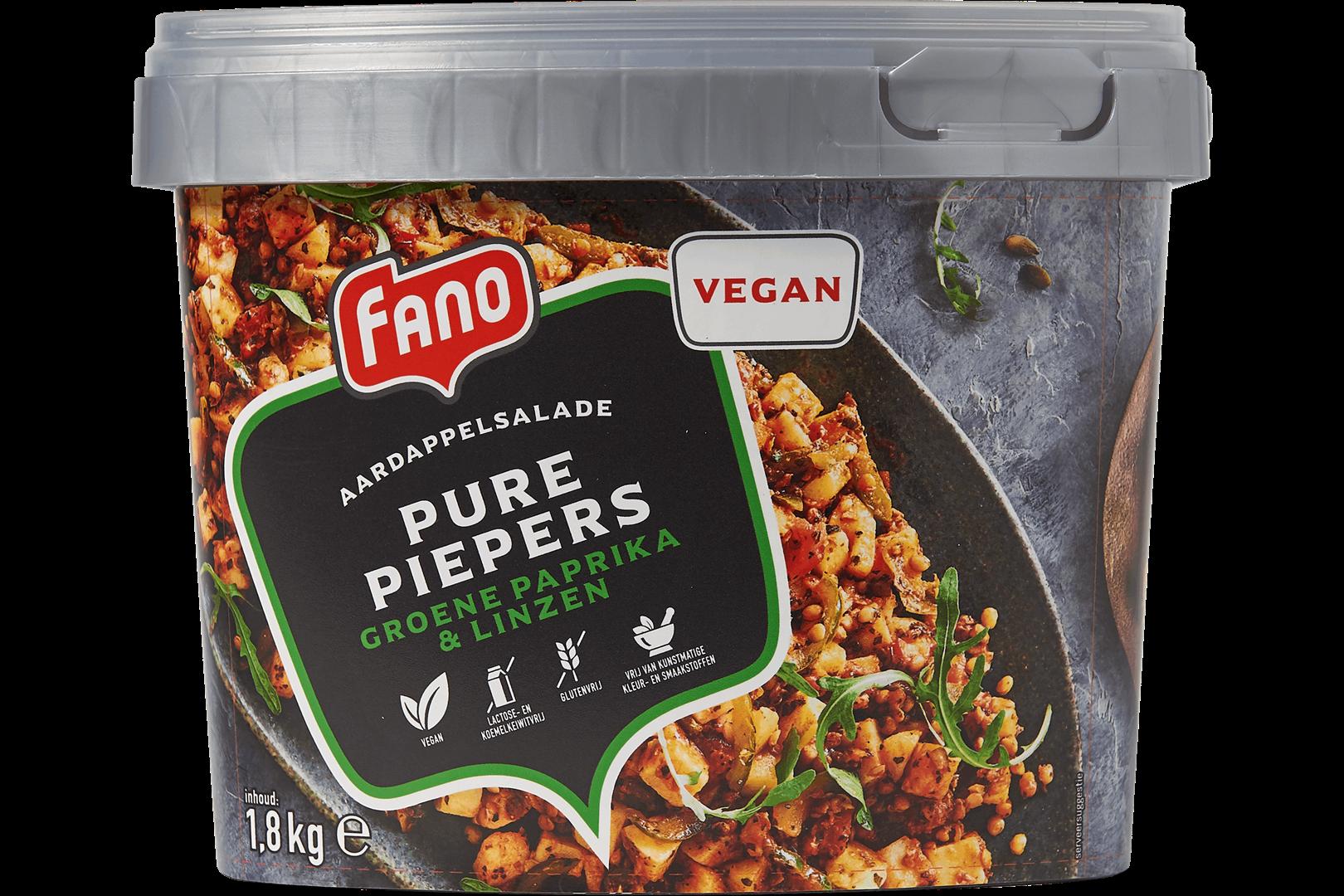 Productafbeelding FANO Pure Piepers groene Paprika en Linzen 1,8kg