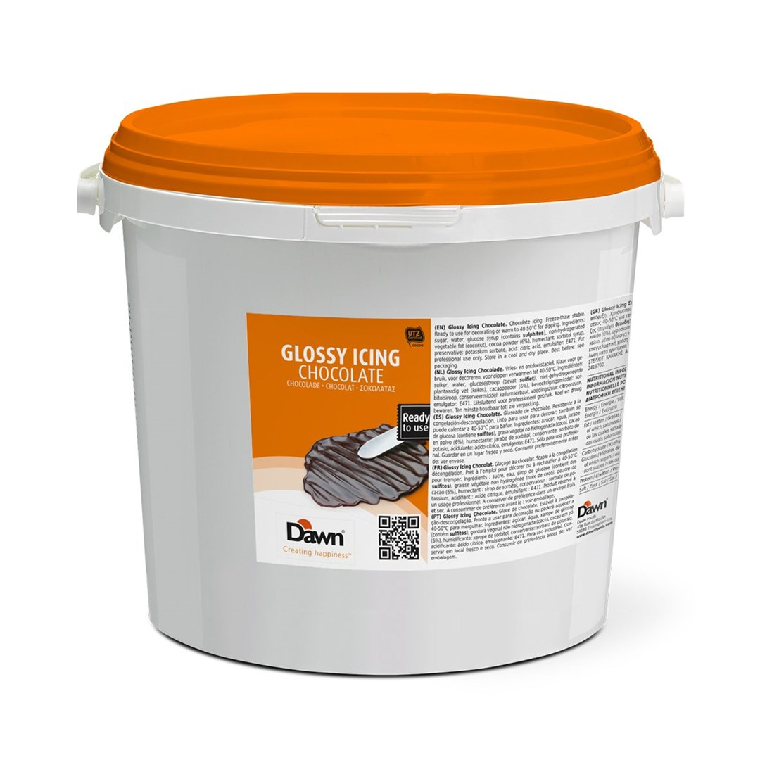 Productafbeelding Dawn Glossy Icing Chocolade 7 kg emmer