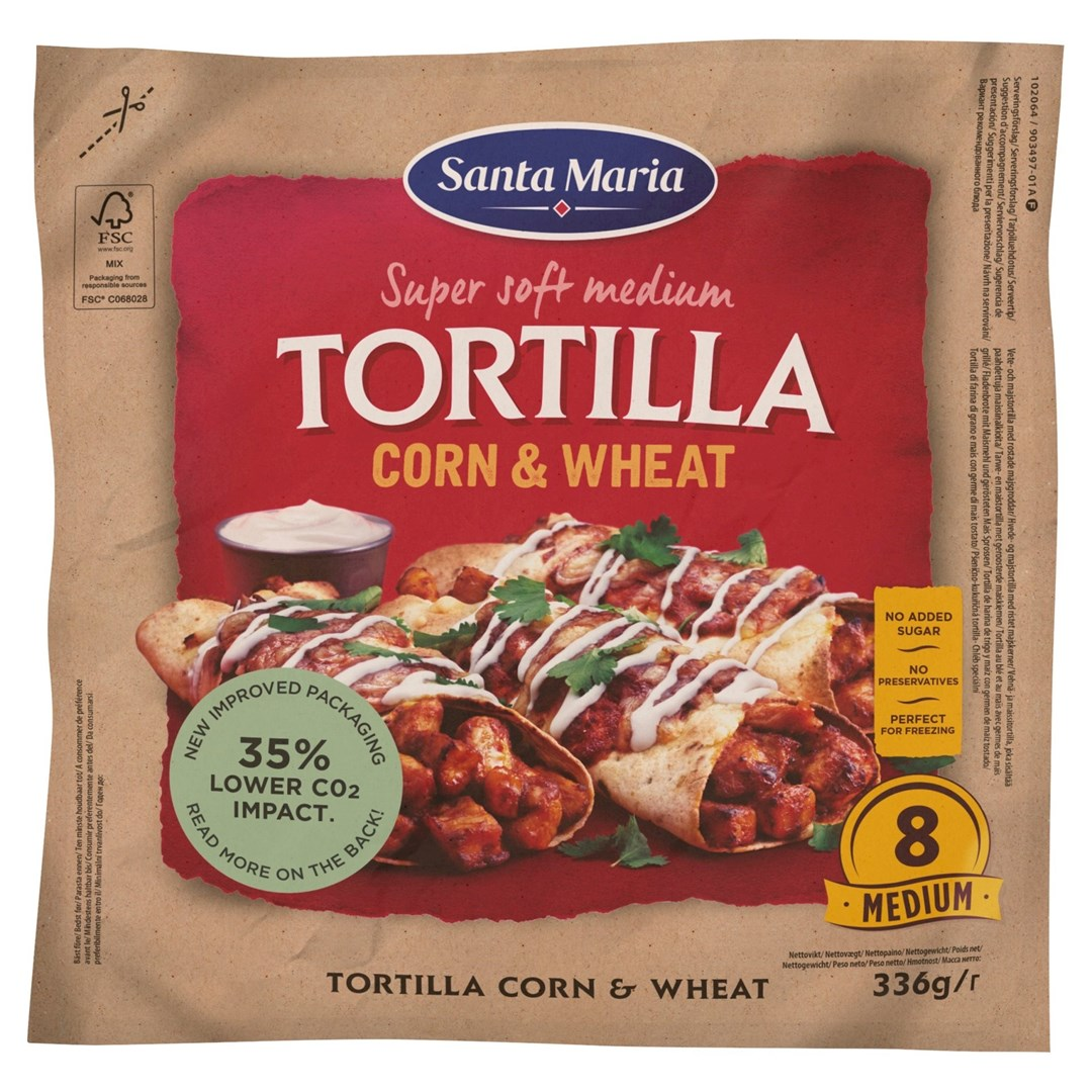 Productafbeelding Santa Maria 336G Tex Mex Tortilla Corn Wheat Medium (8-pack)