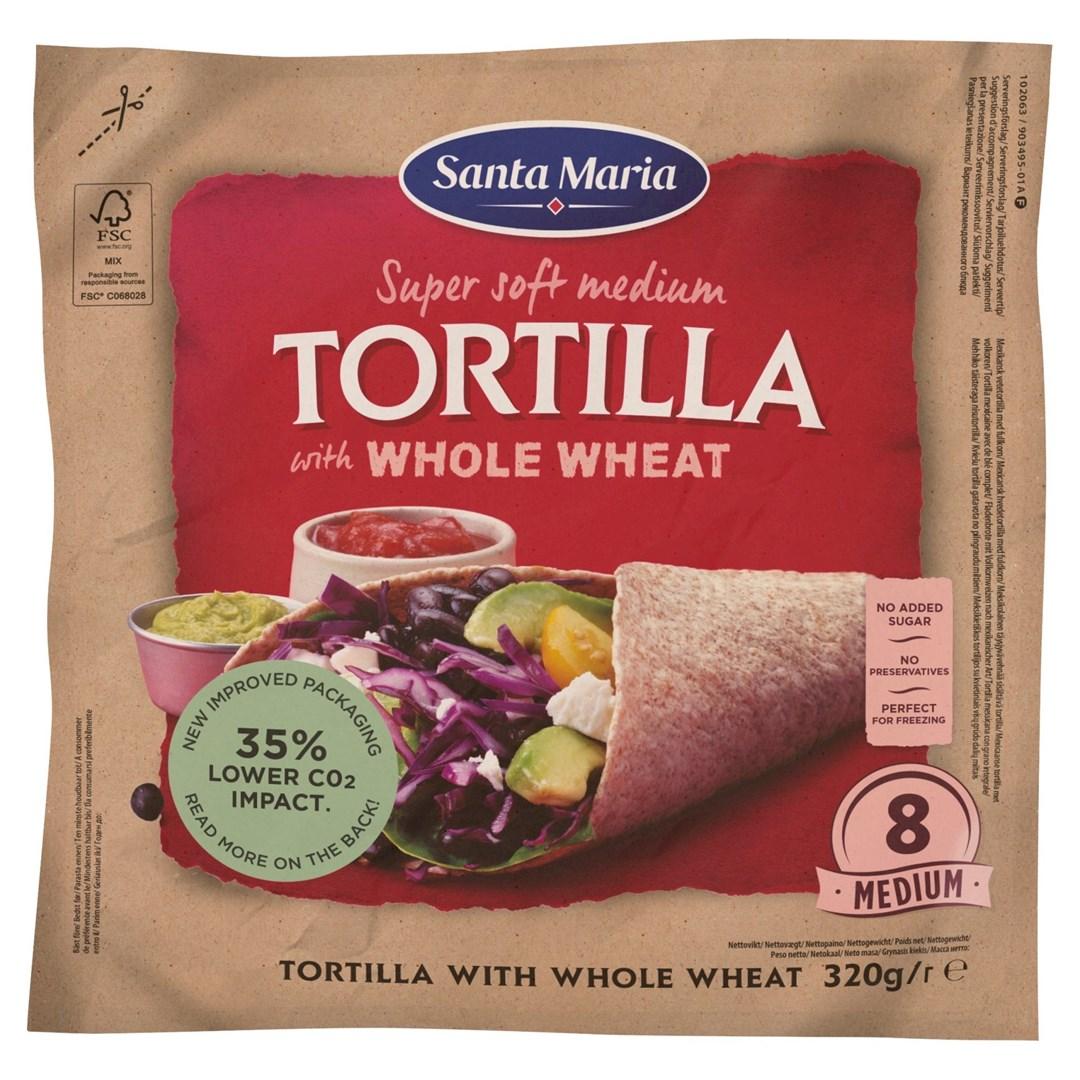 Productafbeelding Santa Maria Tortilla with Whole Wheat Medium 8-pack