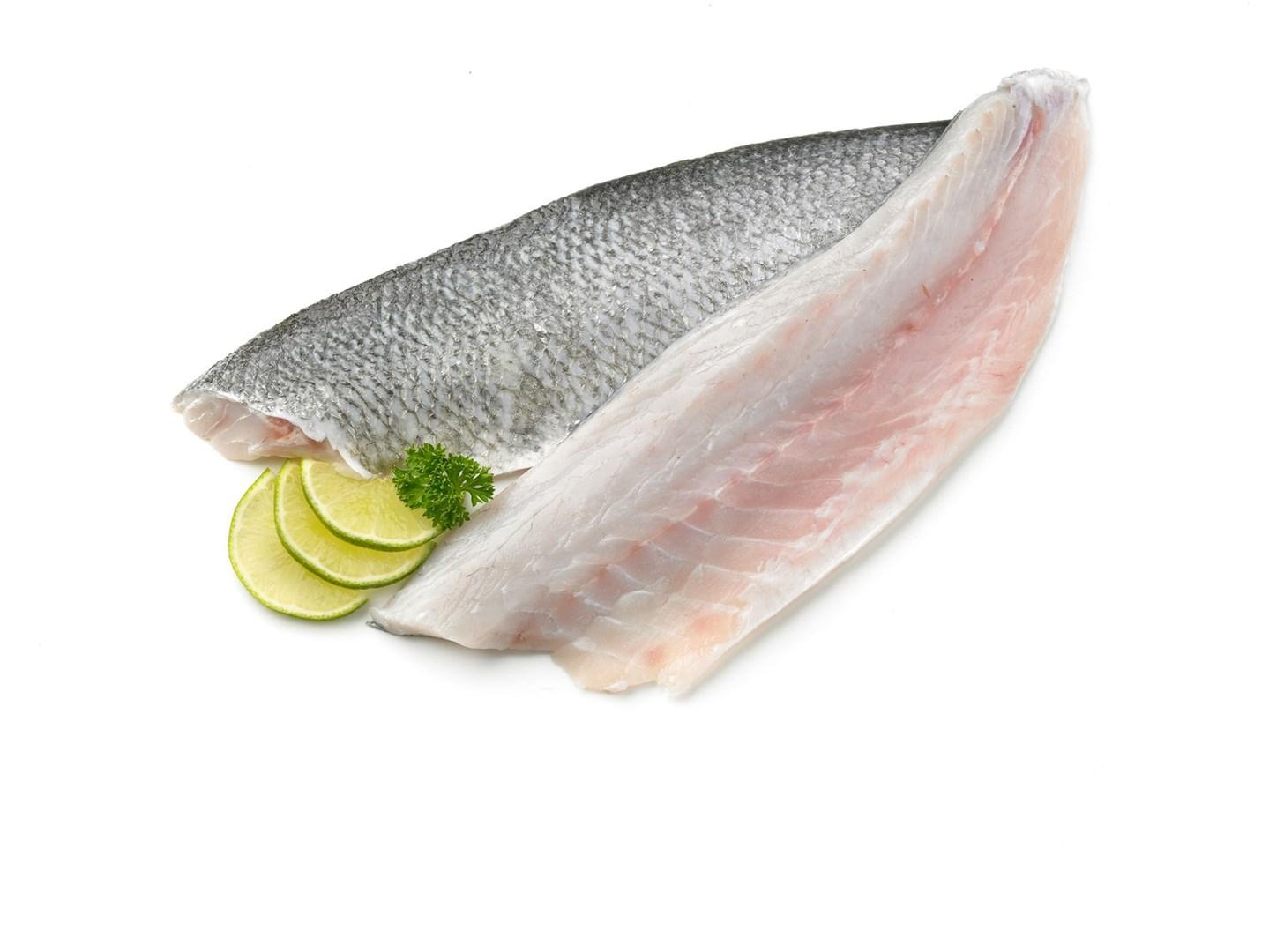 Productafbeelding Zeebaars kweek 300-400 gram, filet met vel geschubd