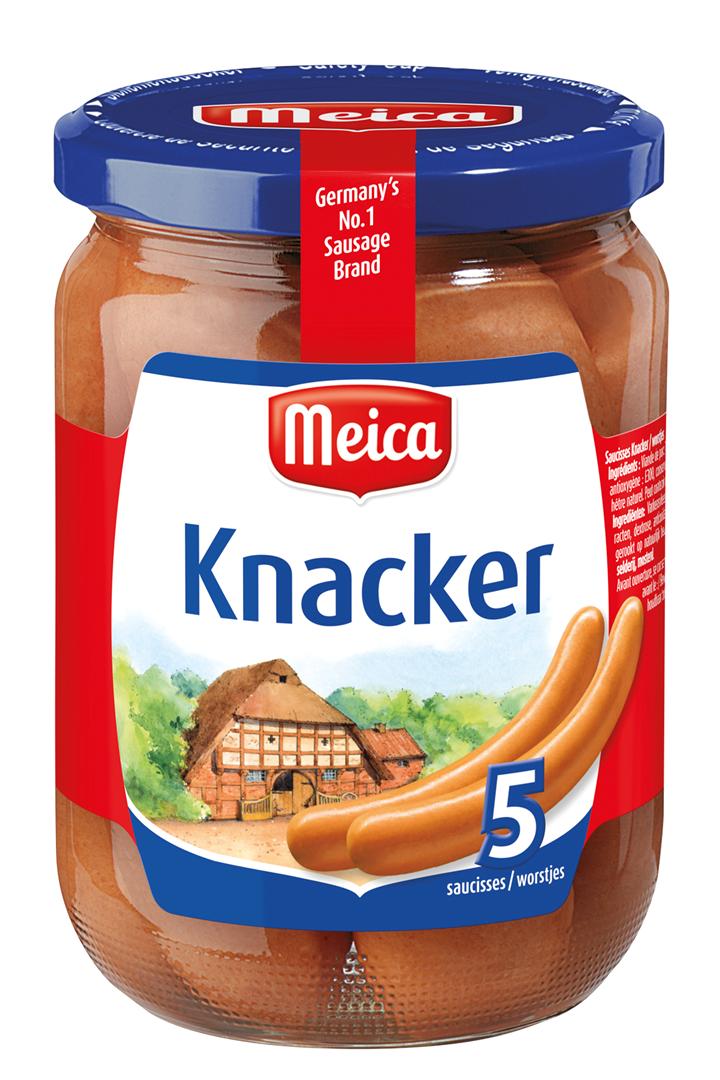 Productafbeelding Meica knakworsten 5 knackers 520g pot