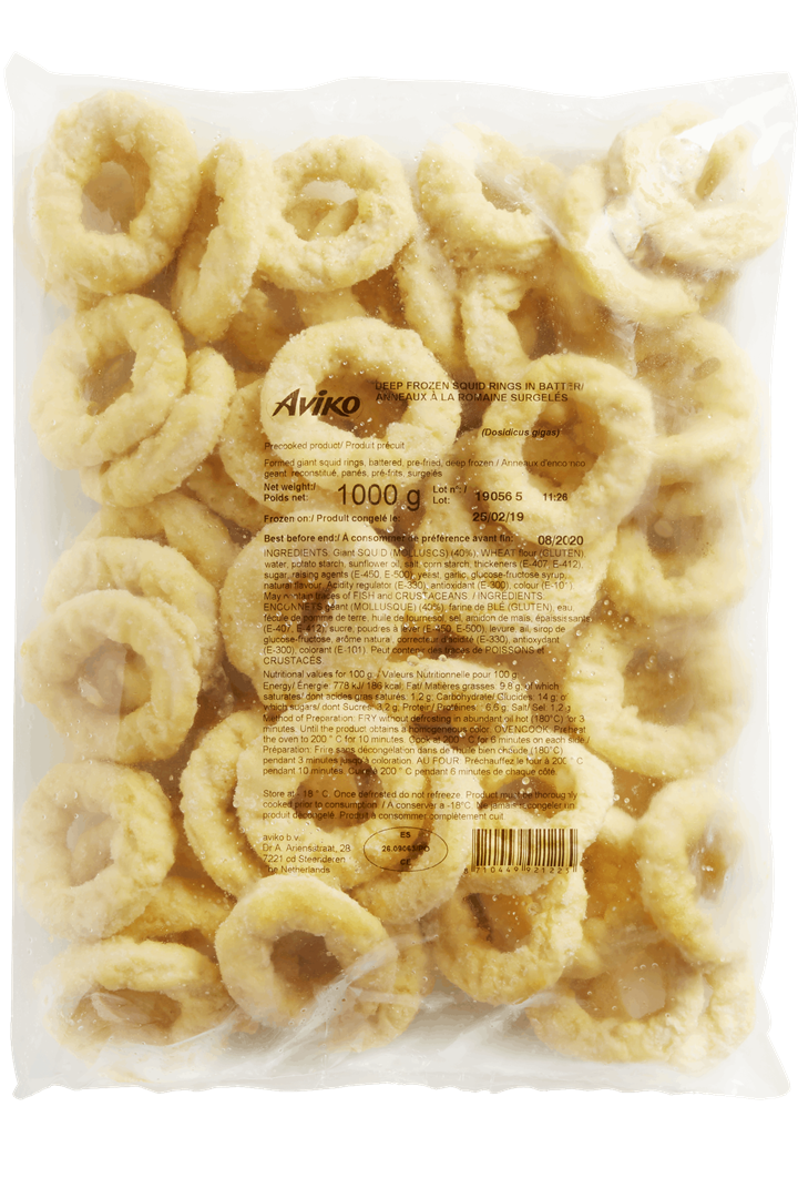 Productafbeelding Aviko App. Squid rings 60/40 5x1000g