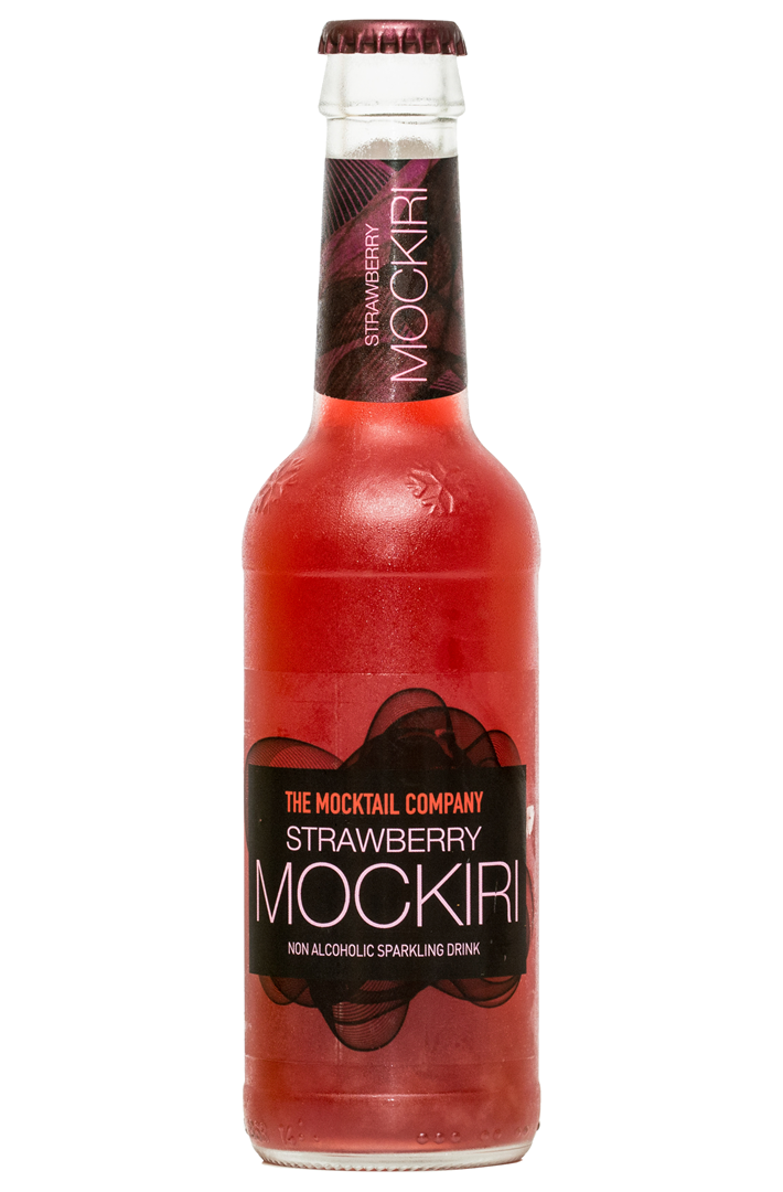 Productafbeelding the Mocktail company frisdrank strawberry mockiri 275ml fles
