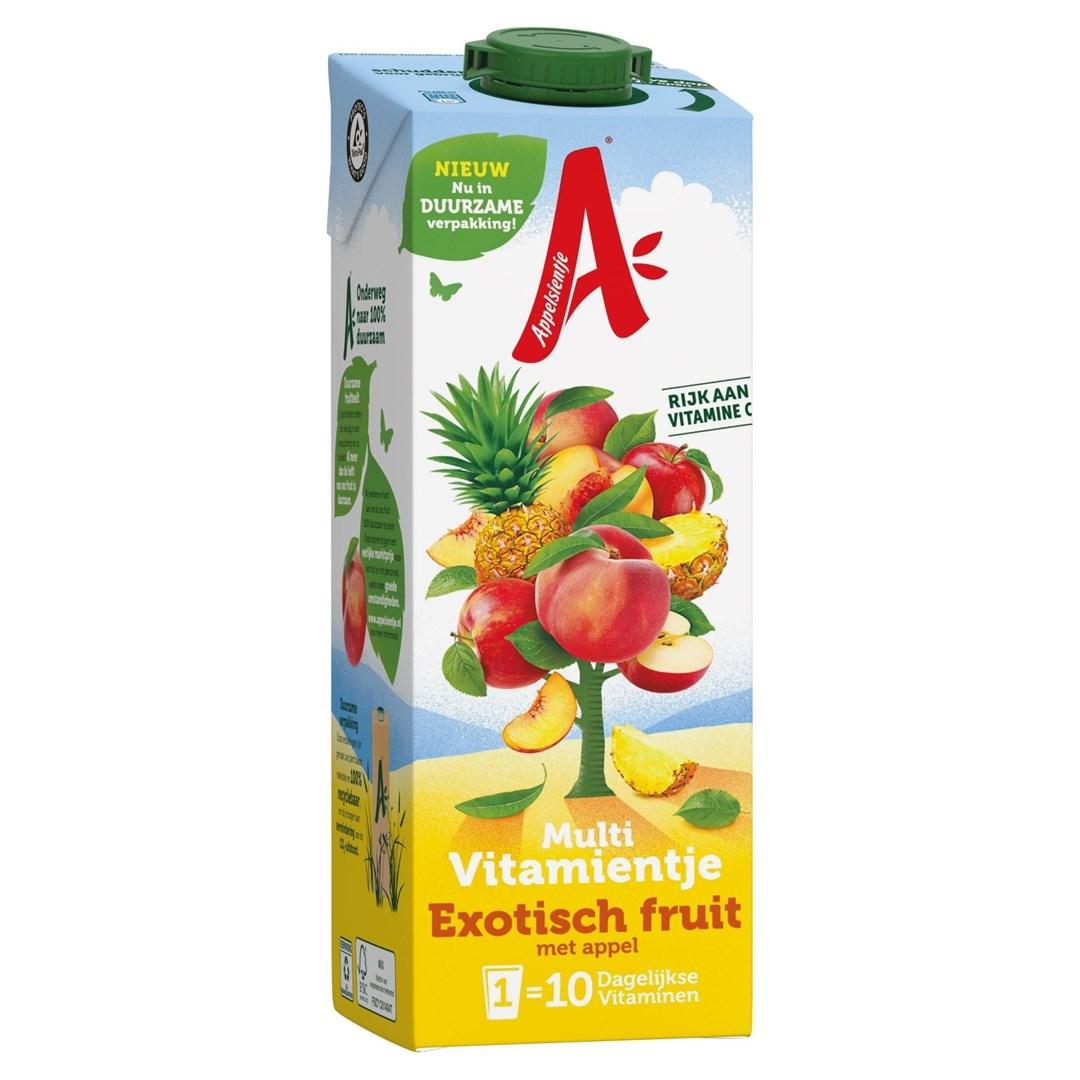 Productafbeelding Appelsientje  vruchtensap multivitamientje exotisch fruit 1 lt pak met punt