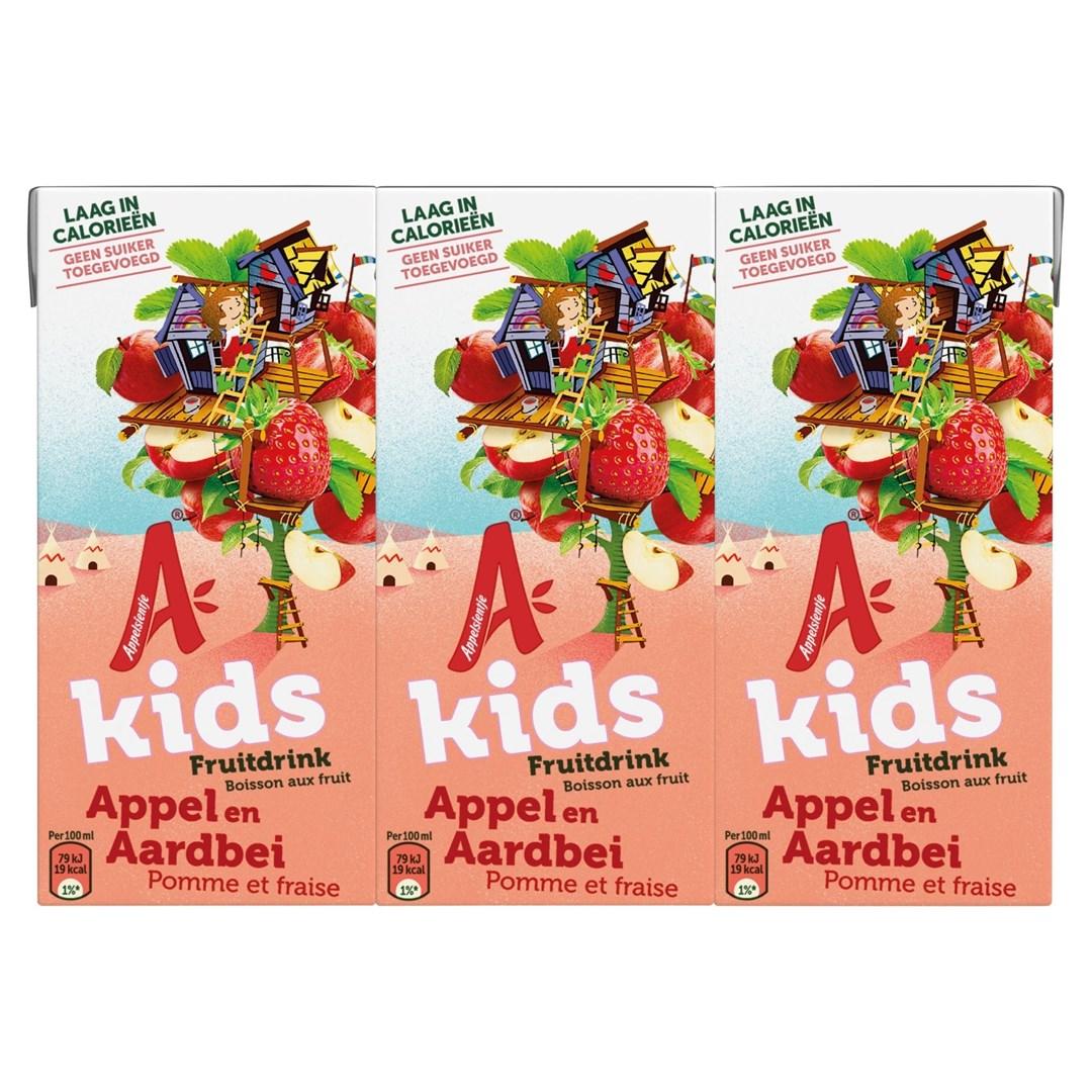 Productafbeelding Appelsientje vruchtensap kids aardbei appel  6 x 200 ml multi-pack