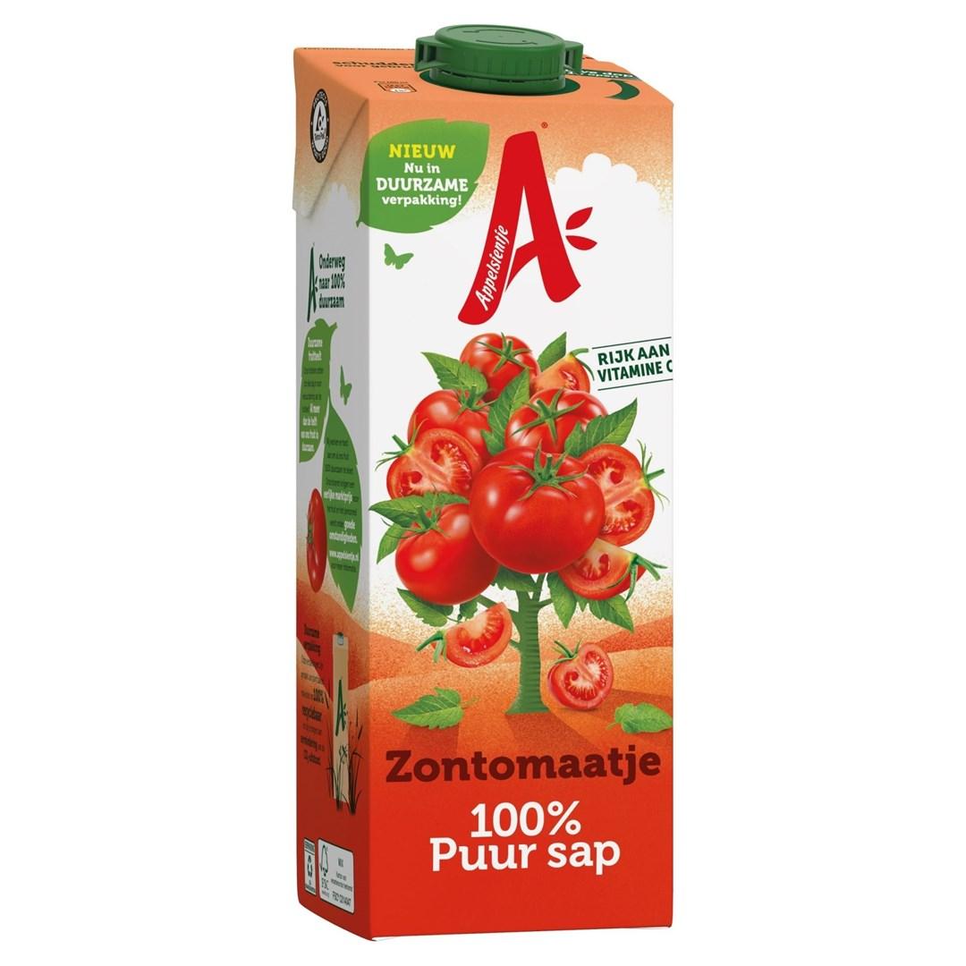 Productafbeelding Appelsientje vruchtensap zontomaat 1 lt pak met punt