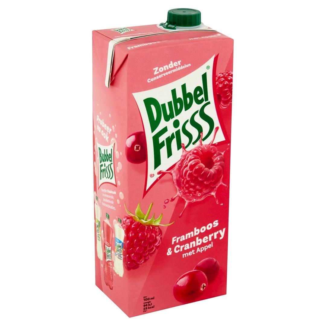 Productafbeelding Dubbelfrisss framboos cranberry 1,5 lt pak