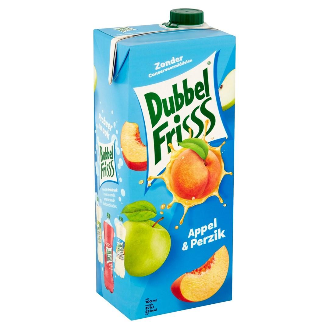 Productafbeelding Dubbelfrisss Appel-Perzik 1,5 lt pak