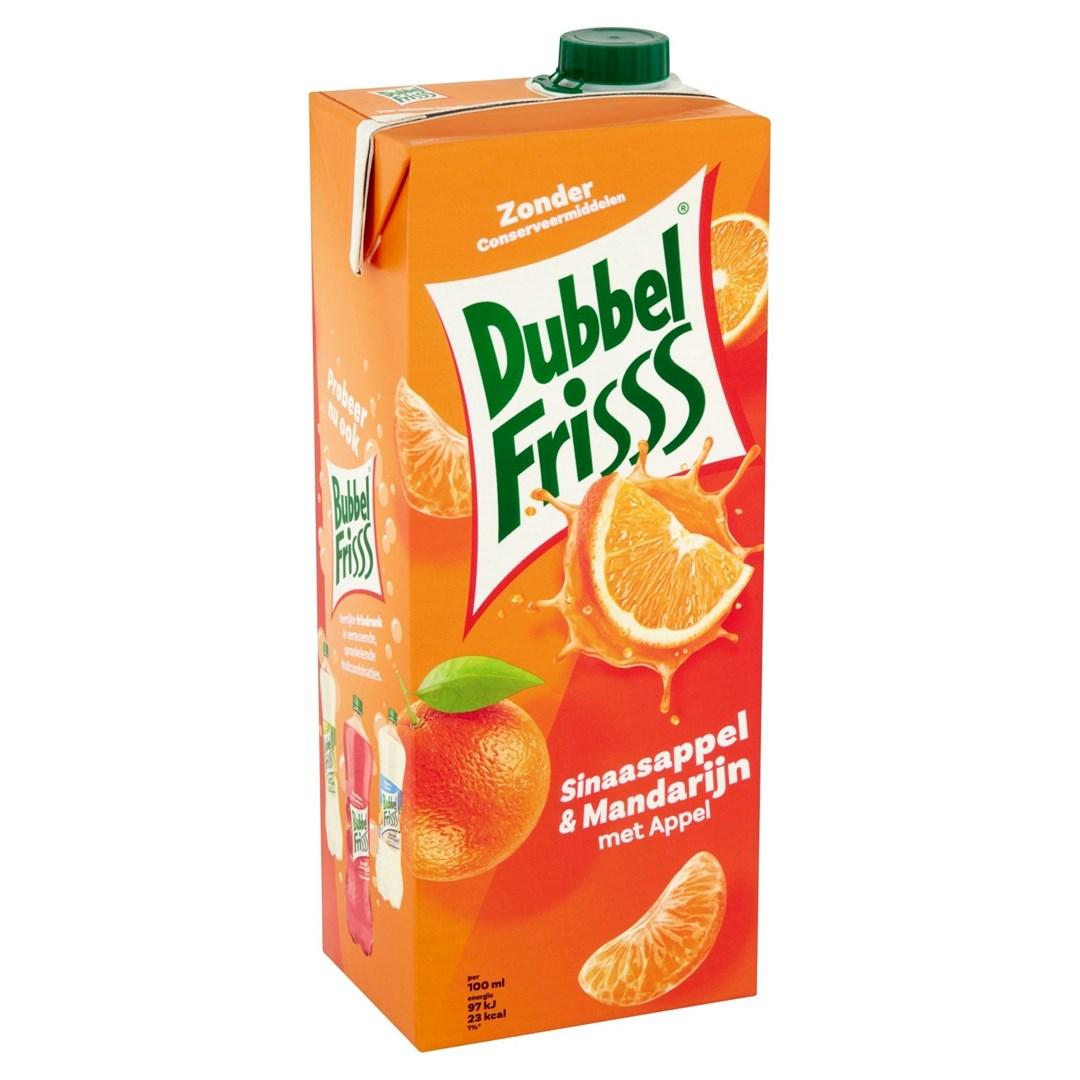 Productafbeelding Dubbelfrisss Sinaasappel-Mandarijn 1,5L pak
