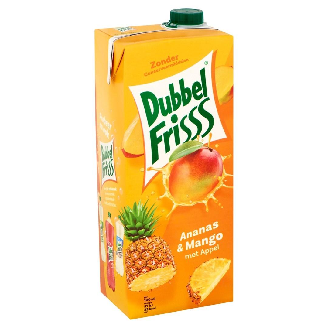 Productafbeelding Dubbelfrisss ananas mango 1,5 lt pak