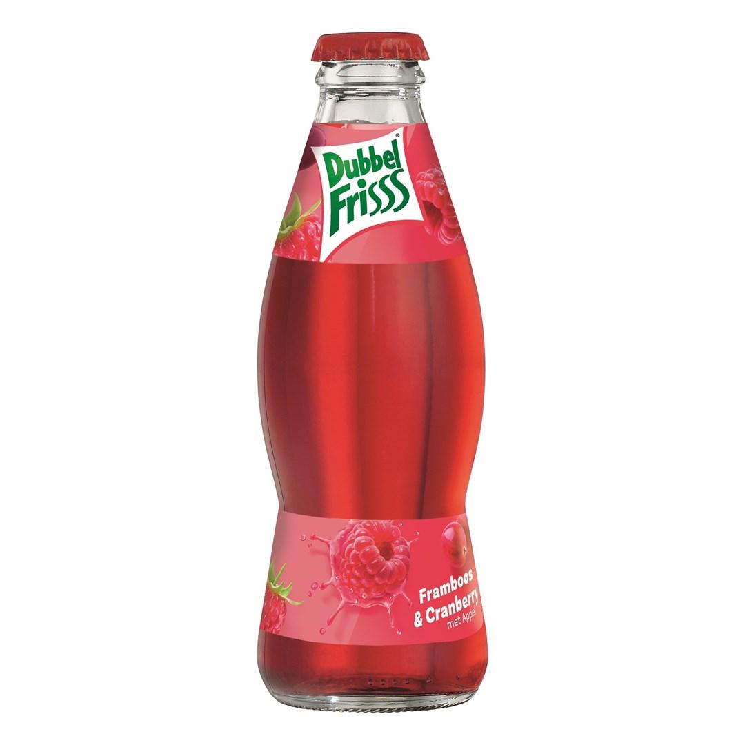 Productafbeelding Dubbelfrisss vruchtendrank framboos cranberry 200 ml fles