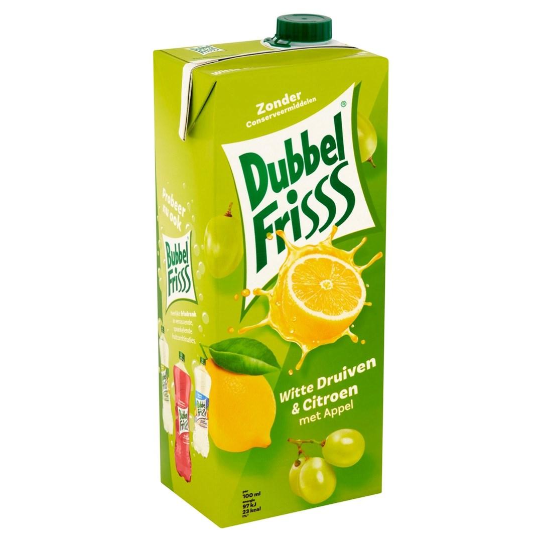 Productafbeelding Dubbelfrisss  witte druif citroen 1,5 lt pak
