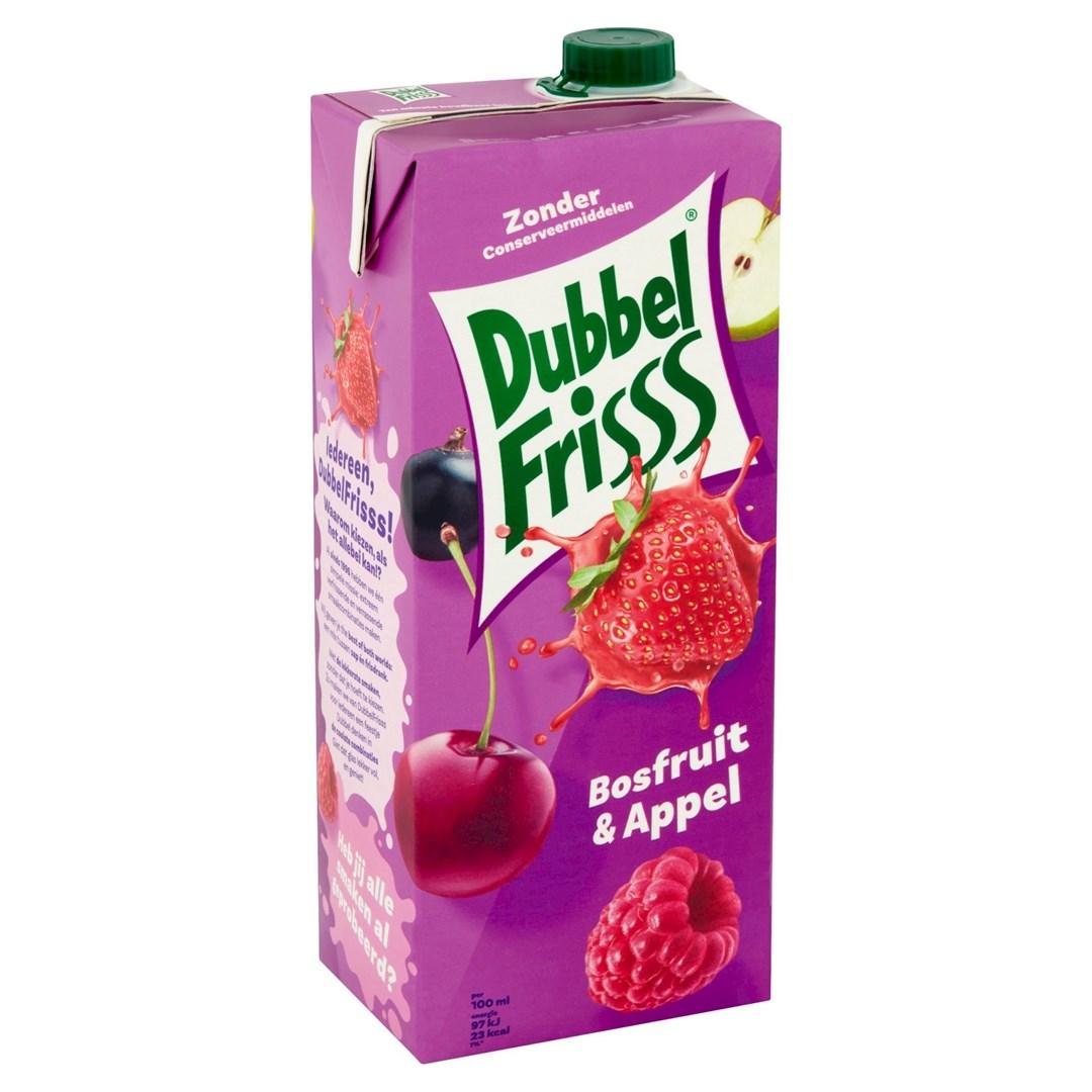 Productafbeelding Dubbelfrisss vruchtendrank Bosfruit-Appel 1,5 lt pak