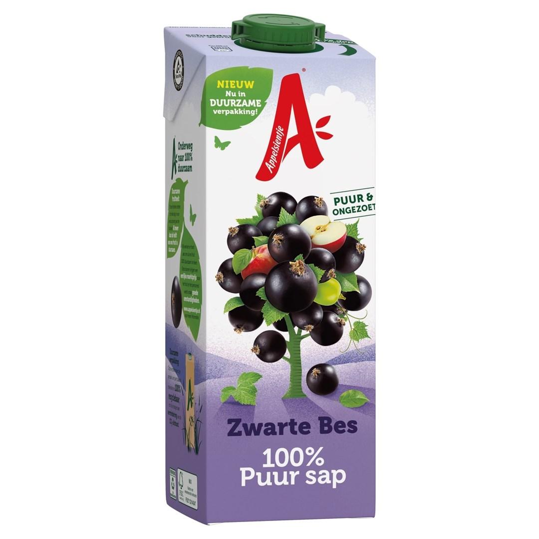 Productafbeelding Appelsientje vruchtensap zwarte bes 1 lt pak met punt