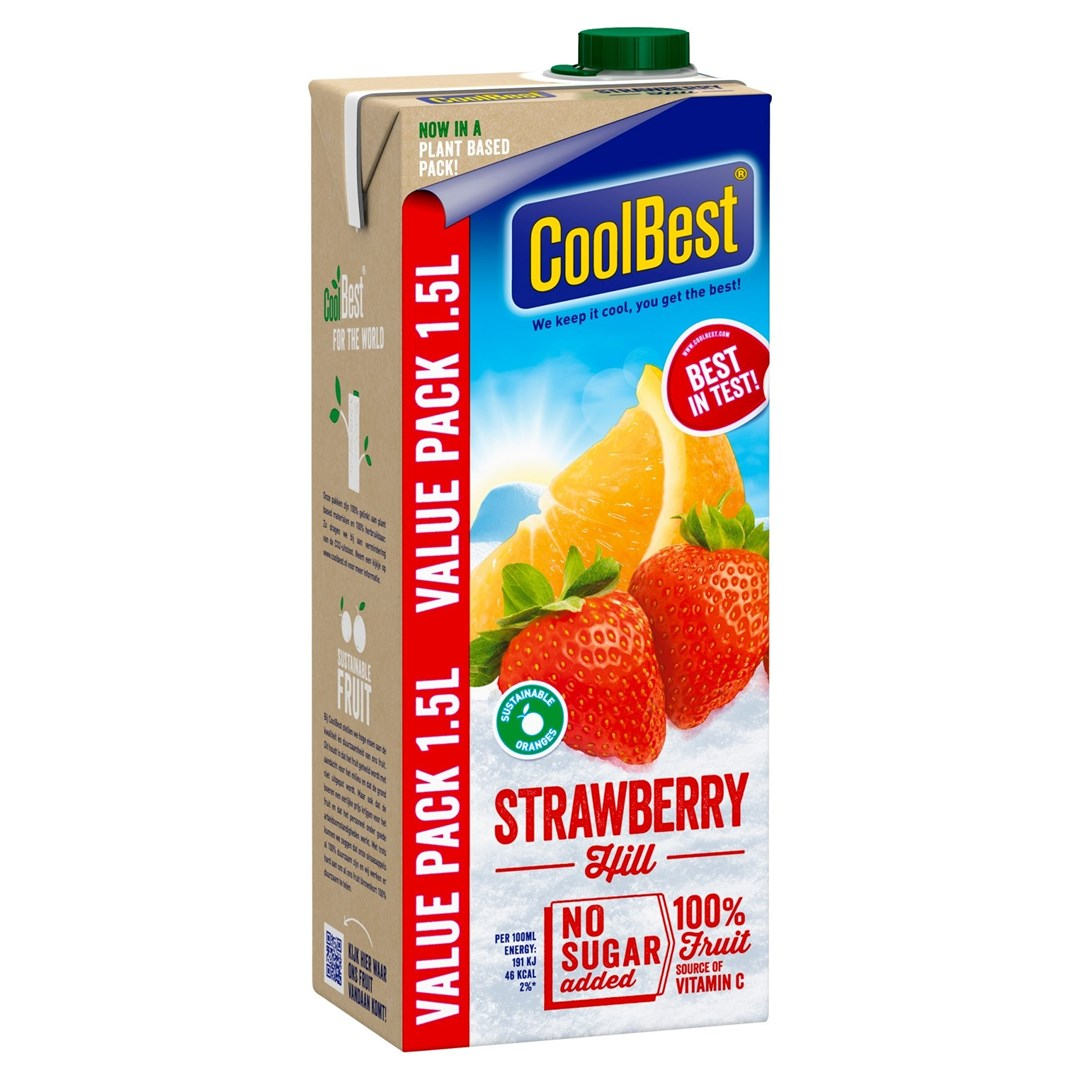 Productafbeelding Coolbest Strawberry hill 1,5 lt pak