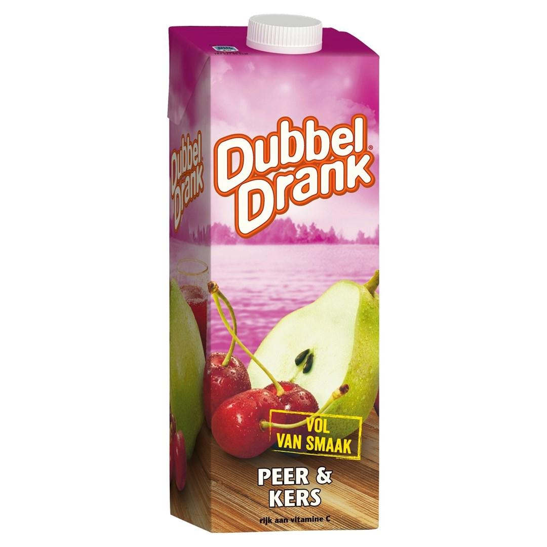 Productafbeelding Dubbeldrank vruchtensap peer kers 1 lt pak met punt