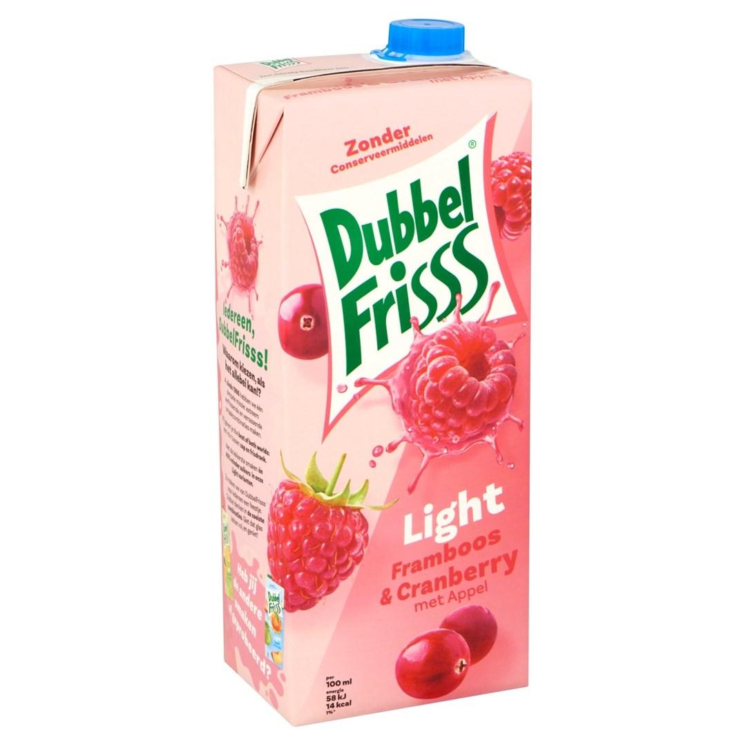 Productafbeelding DubbelFrisss Framboos-Cranberry Light 1.5 l Pak