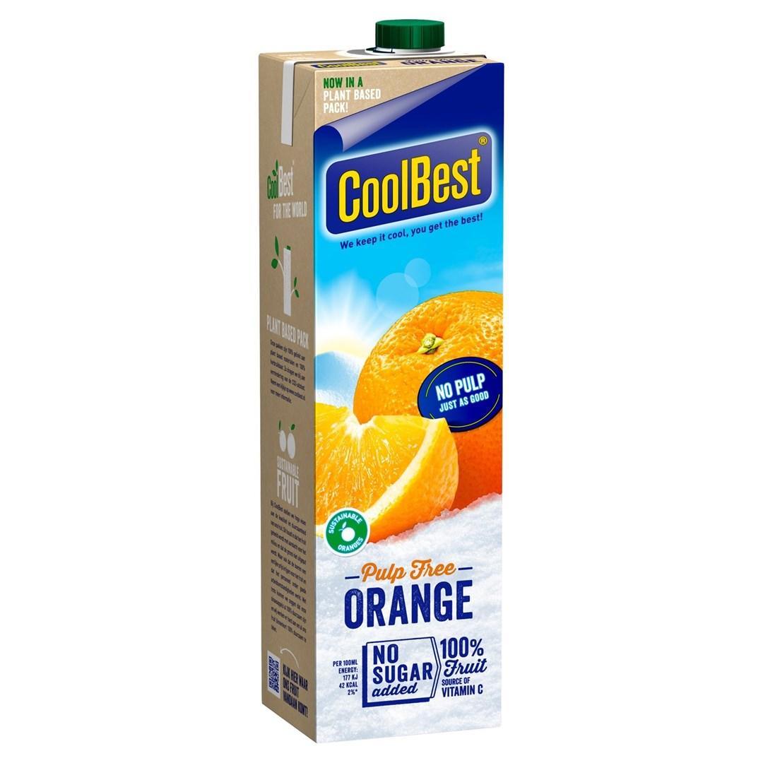 Productafbeelding Coolbest Premium Orange pulp free 1 lt pak