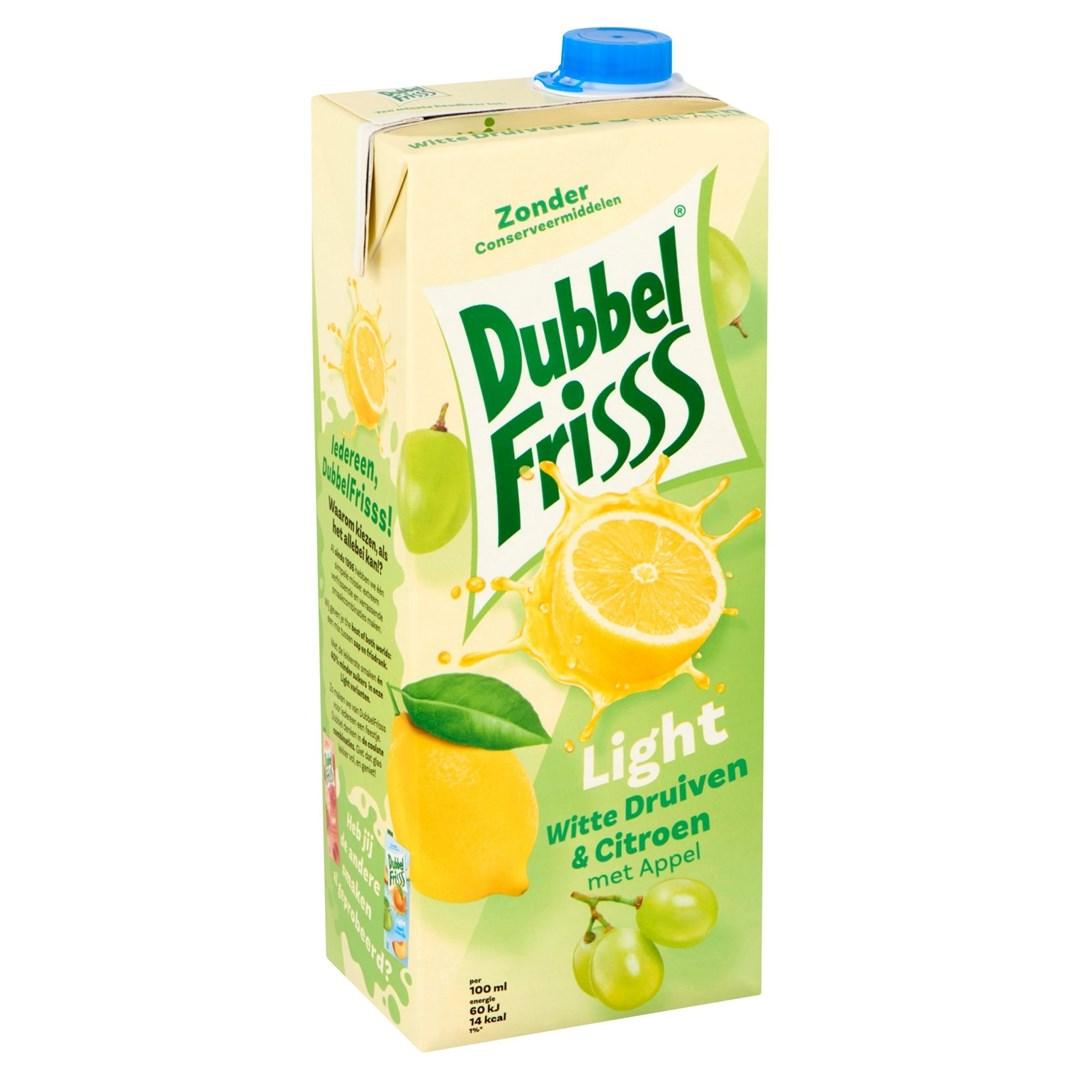 Productafbeelding Dubbelfrisss  witte druif citroen light 1,5 lt pak