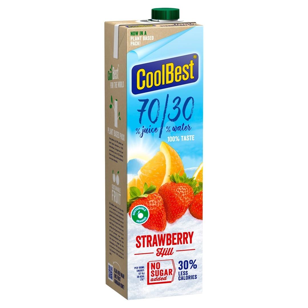 Productafbeelding Coolbest  gekoeld sap Strawberry Hill 70/30 1 lt pak