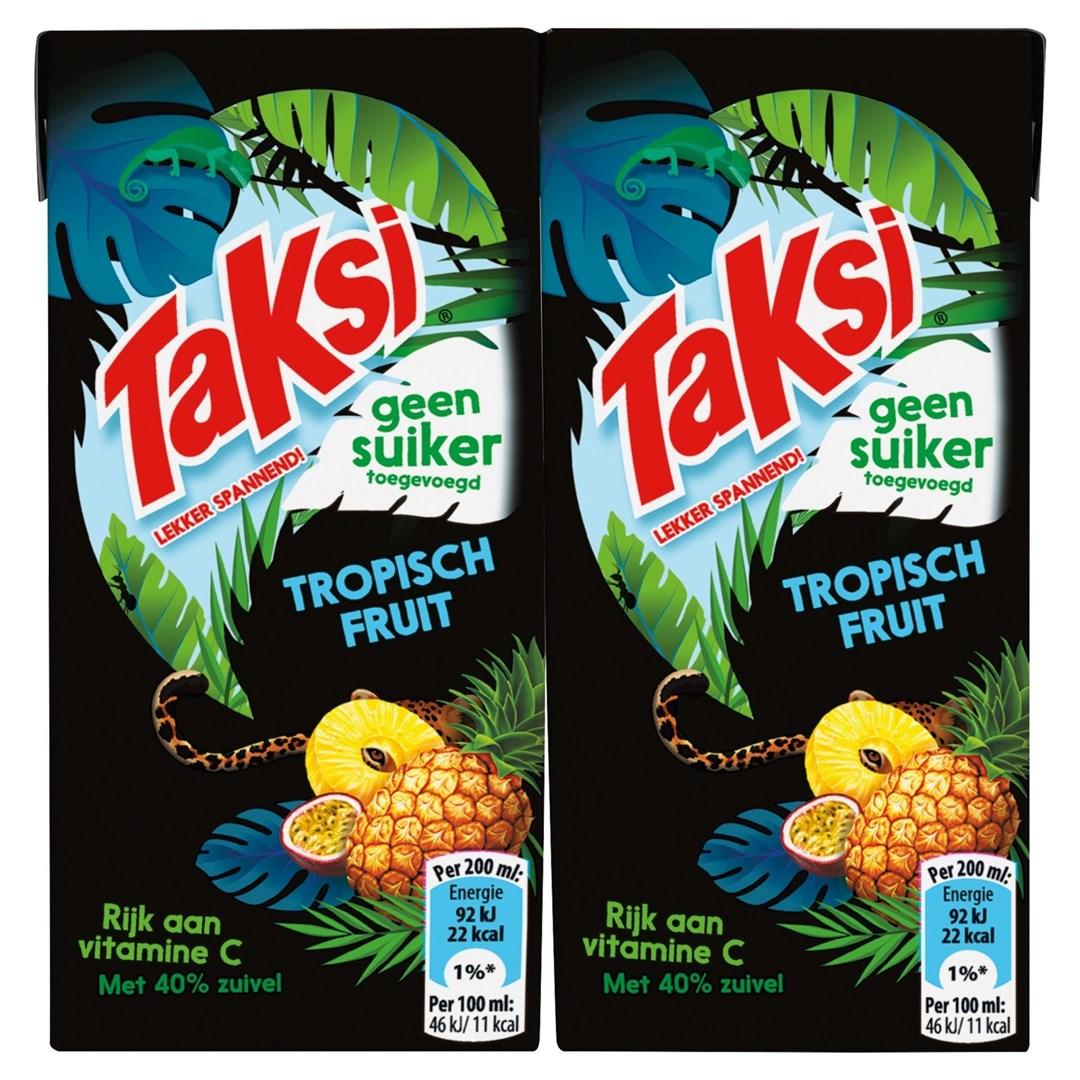 Productafbeelding Taksi vruchtendrank tropisch fruit geen suiker toegevoegd 10 x 200 ml multi-pack