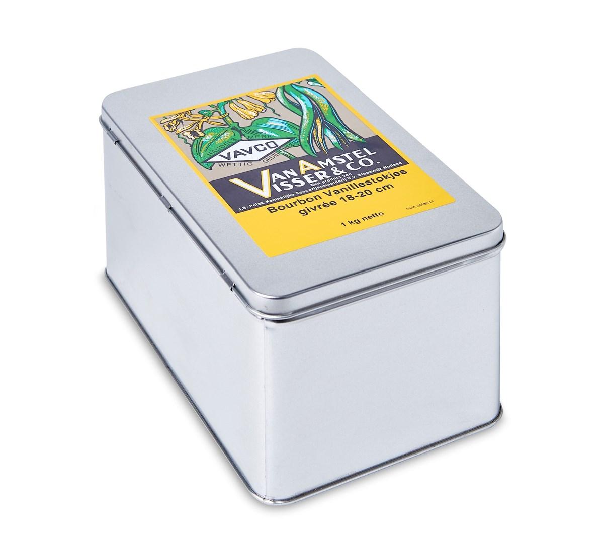Productafbeelding Bourbon Vanillestokjes 18-20 cm givrée 1 kg blik