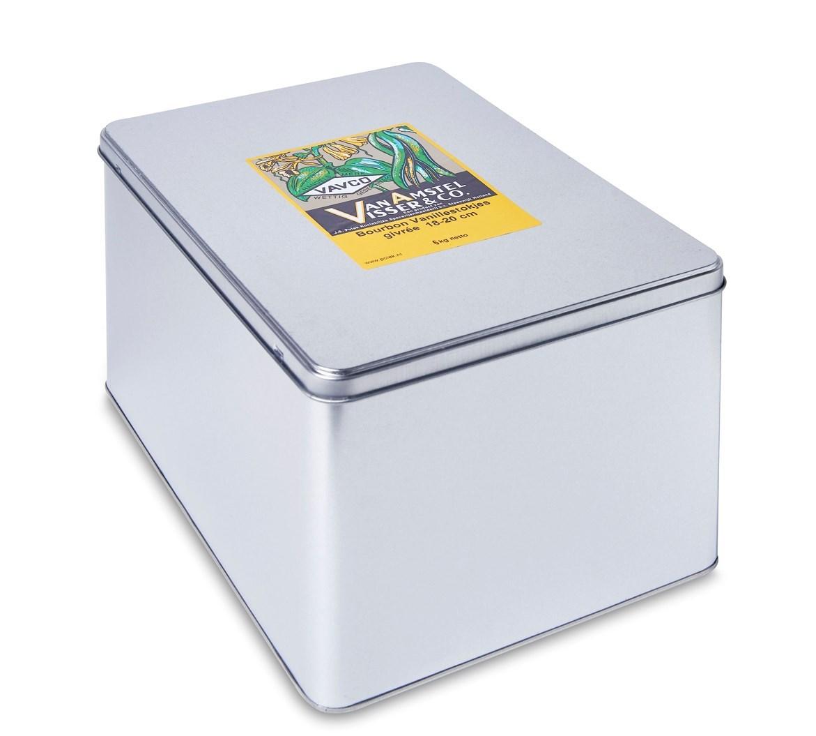 Productafbeelding Bourbon Vanillestokjes 18-20 cm givrée 6 kg blik
