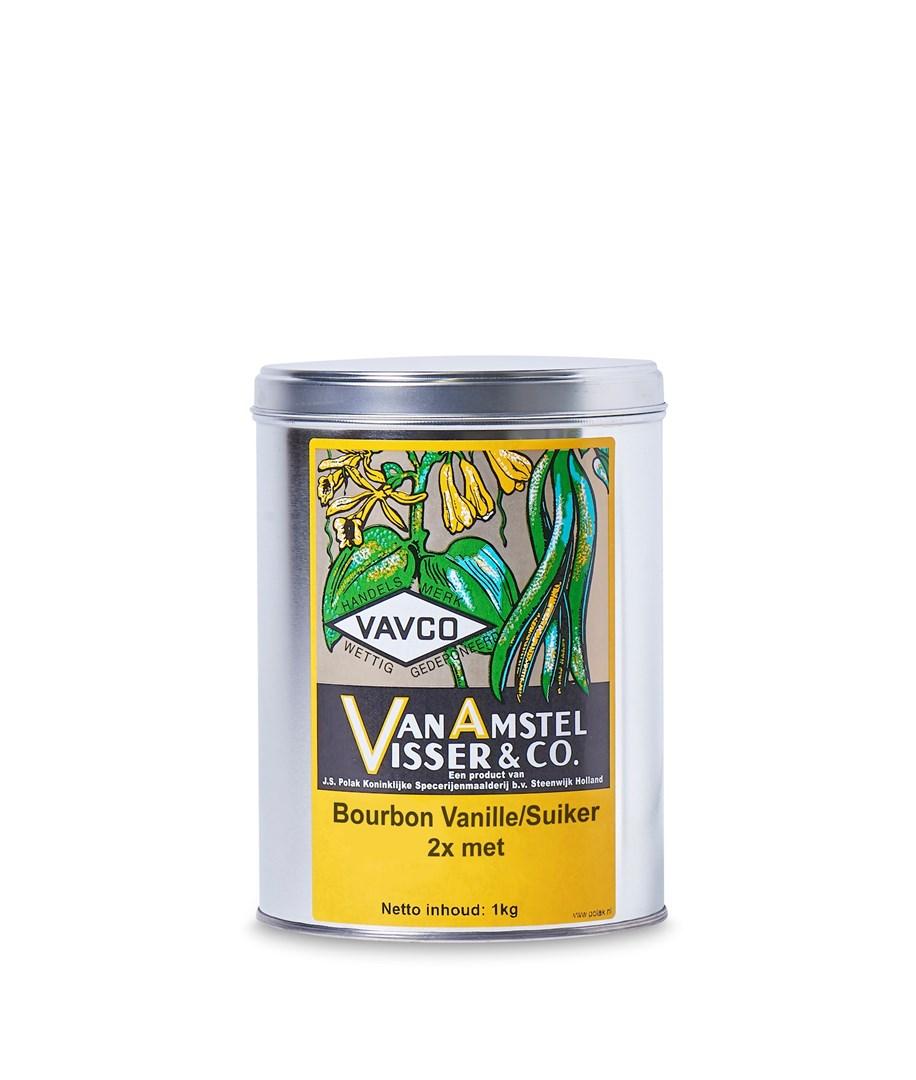 Productafbeelding Bourbon Vanille/Suiker 2x met 1 kg blik
