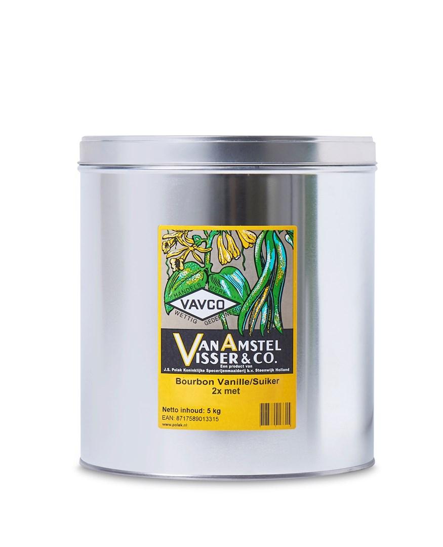 Productafbeelding Bourbon Vanille/Suiker 2x met 5 kg blik