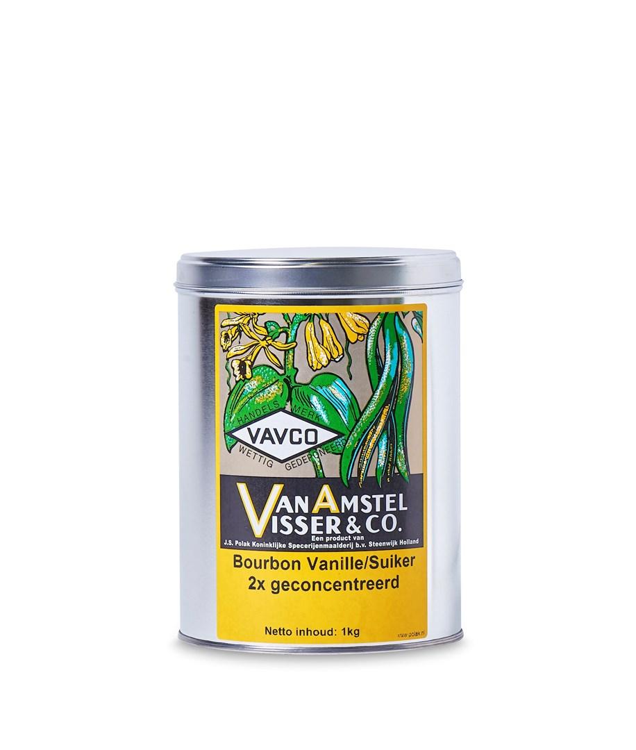 Productafbeelding Bourbon Vanille/Suiker 2x geconcentreerd 1 kg blik