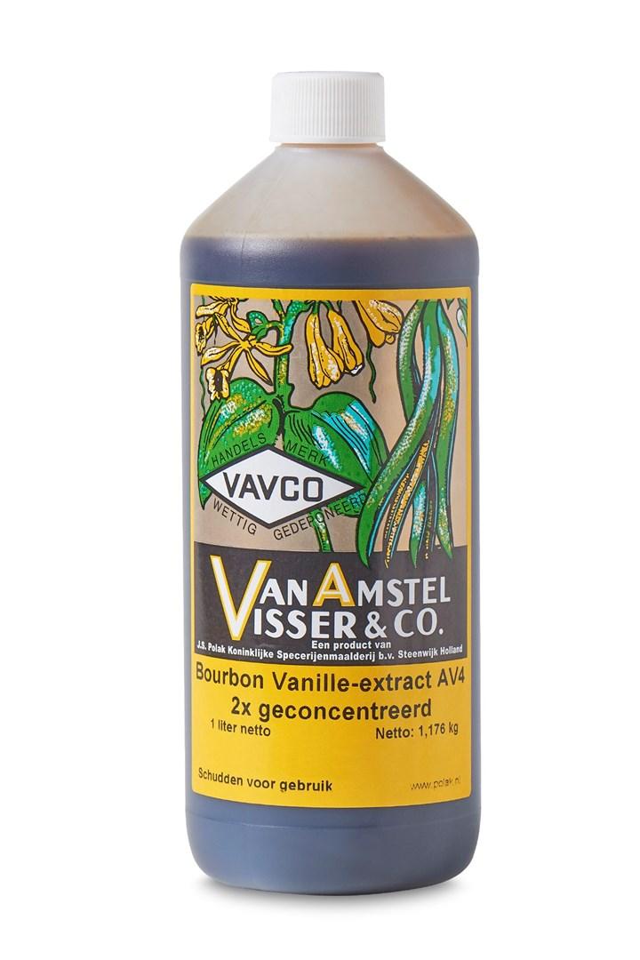 Productafbeelding Bourbon Vanille-extract AV4 2x geconcentreerd 1 Ltr fles