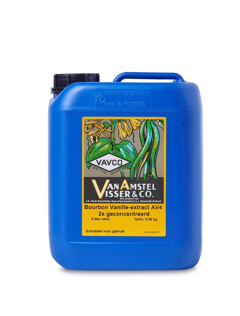 Productafbeelding Bourbon Vanille-extract AV4 2x geconcentreerd 5 Ltr can