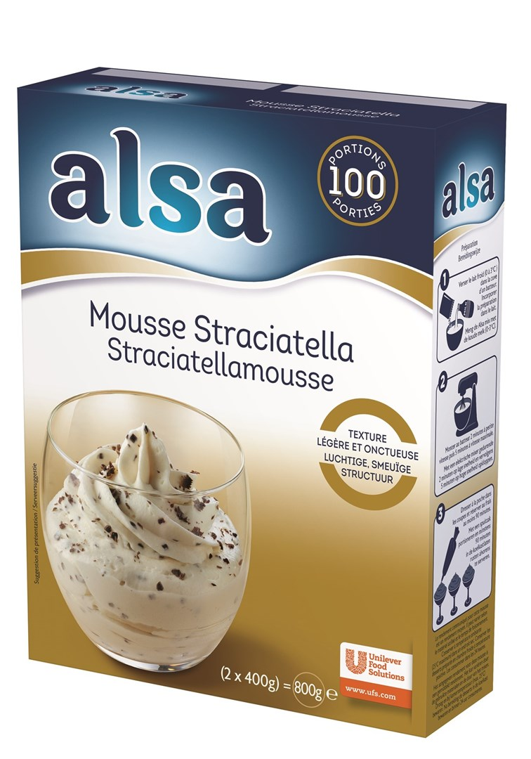 Productafbeelding Alsa Mousse Straciatella 6x800g