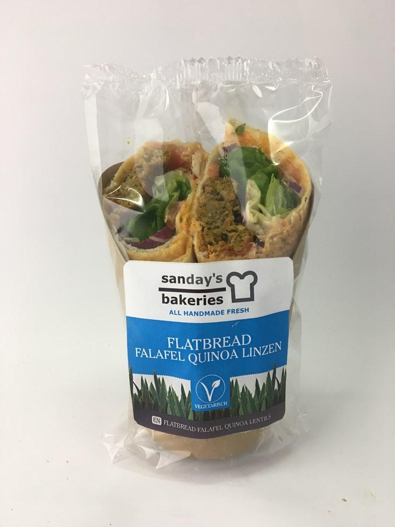 Productafbeelding Flatbread falafel quinoa linzen