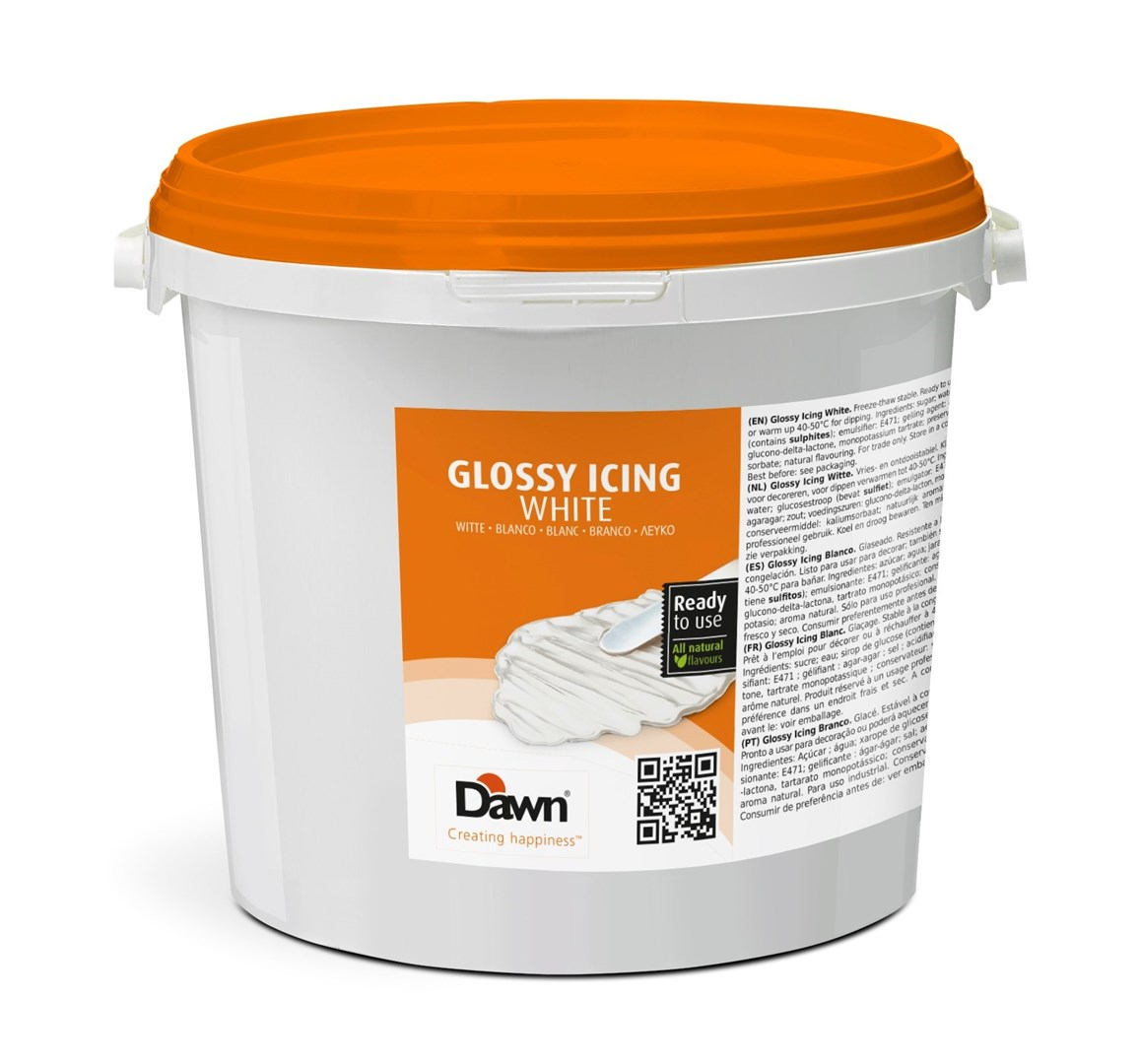 Productafbeelding Dawn Glossy Icing Wit 6 kg emmer