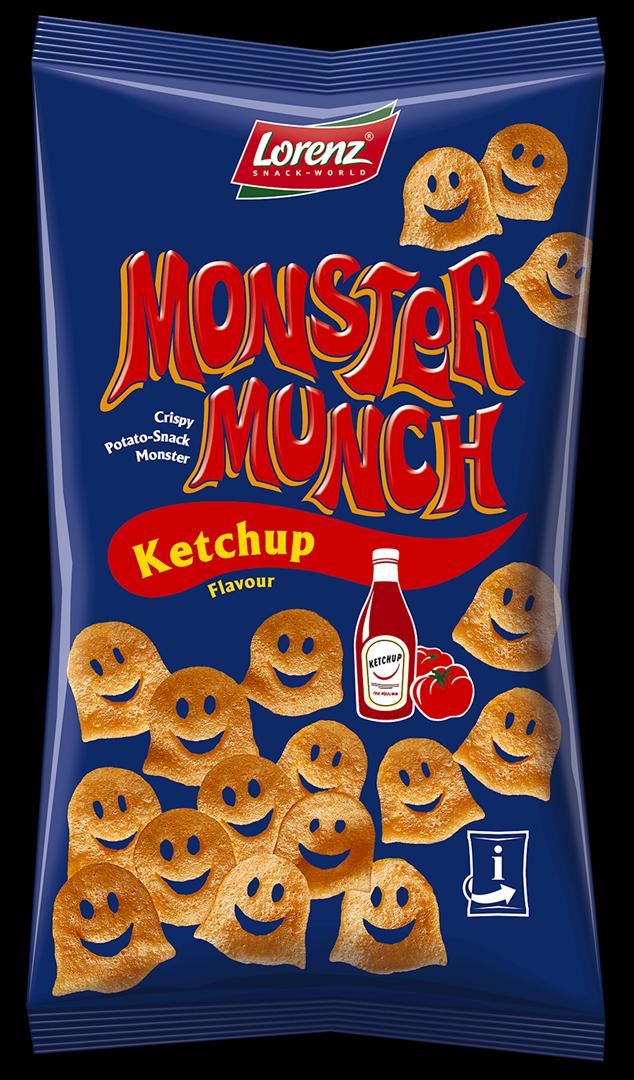 Productafbeelding Lorenz monster munch chips ketchup 75g zak