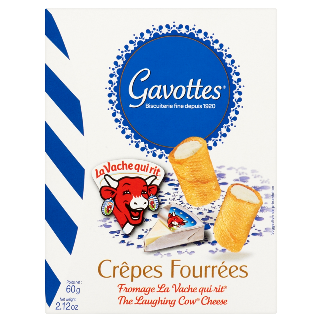 Productafbeelding Gavottes gevulde wafeltjes the laughing cow cheese 60g doos
