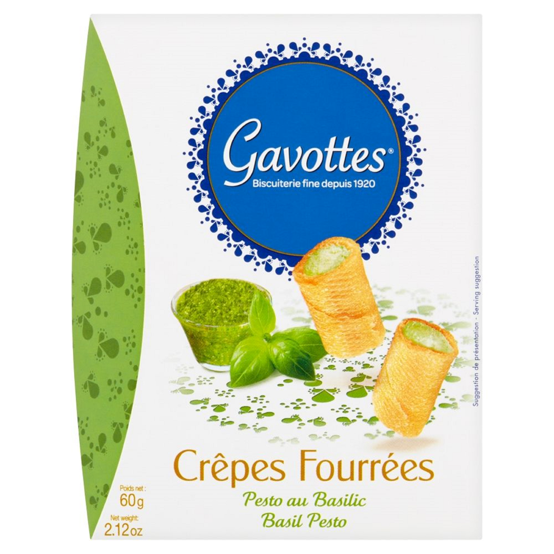 Productafbeelding Gavottes gevulde wafeltjes basil pesto 60g doos