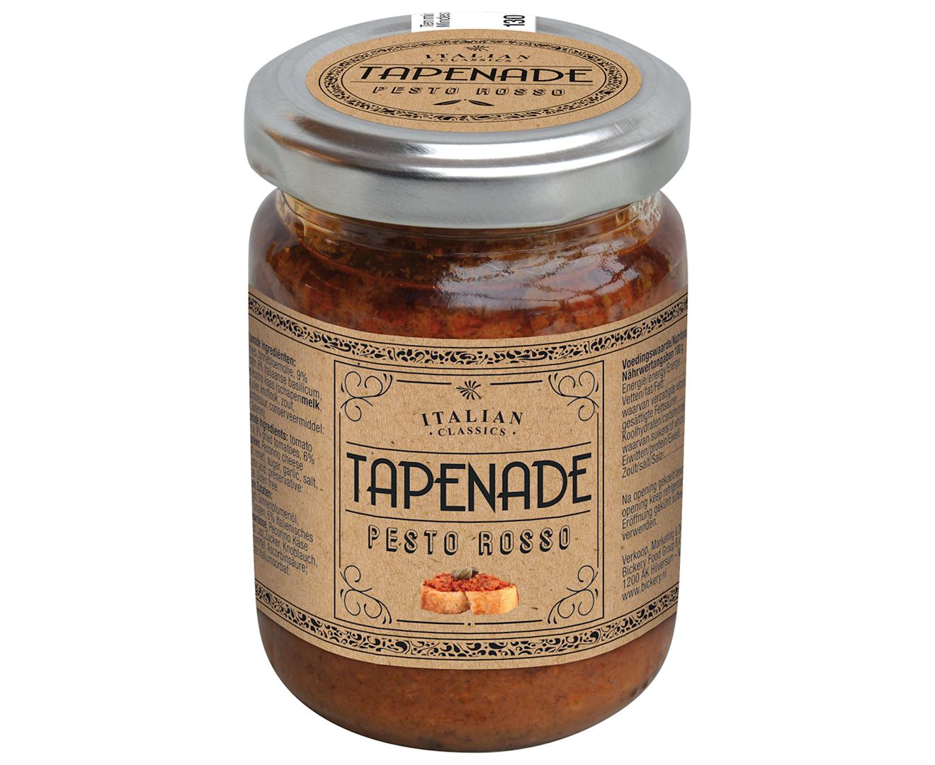 Productafbeelding Tapenade rood Italian classics 130g pot