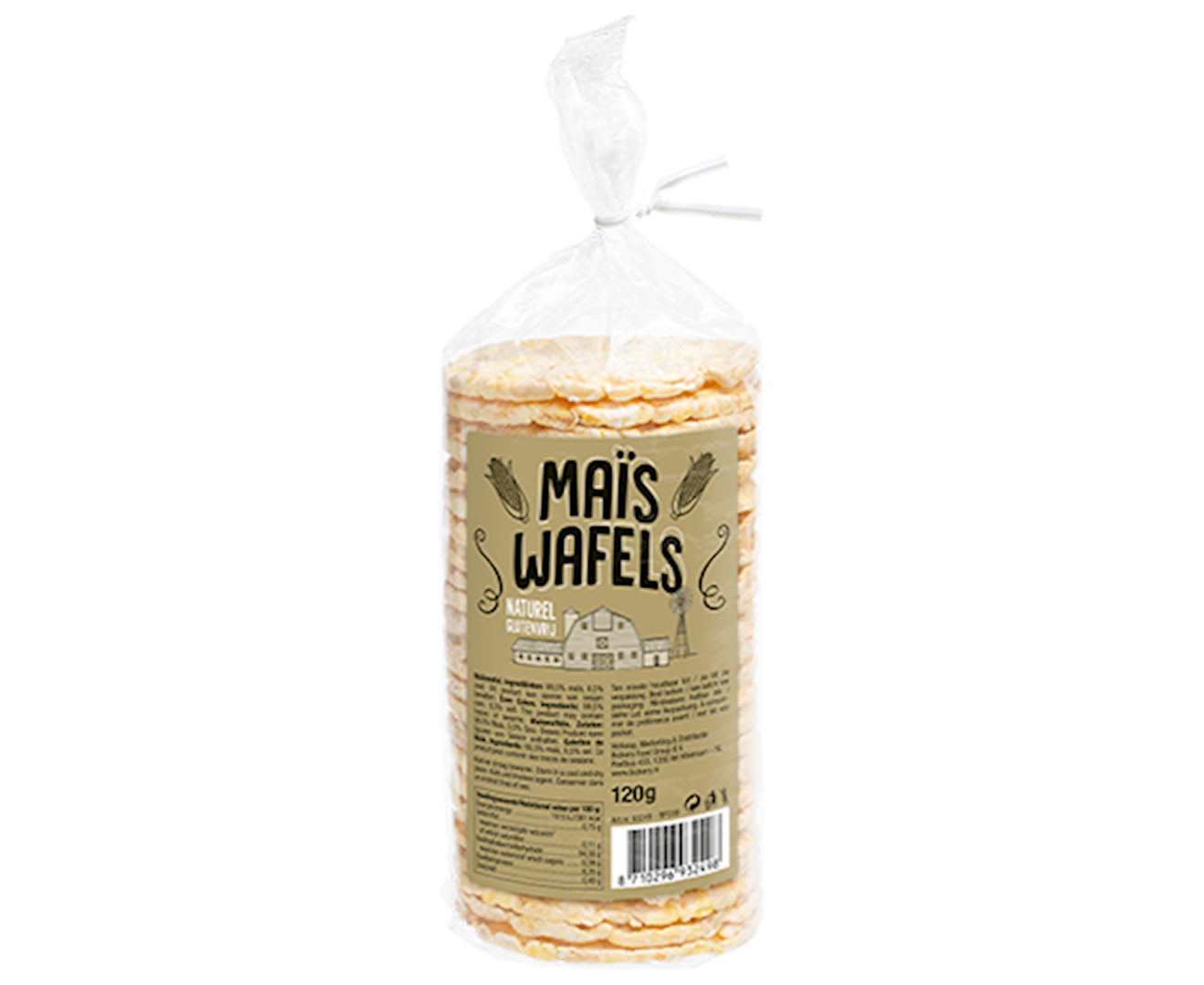 Productafbeelding Maiswafels goud 120g zak