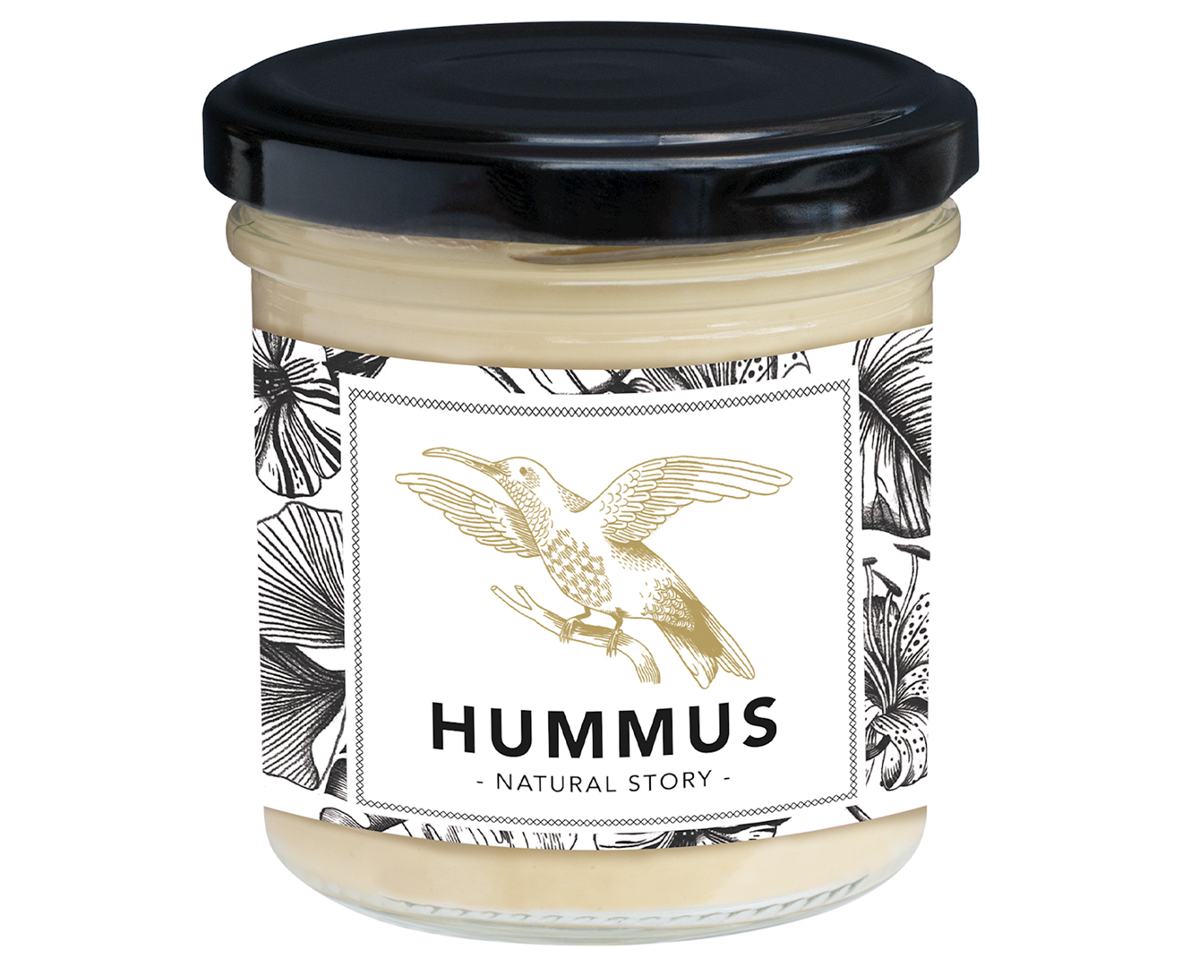 Productafbeelding Hummus Natural story 130g pot