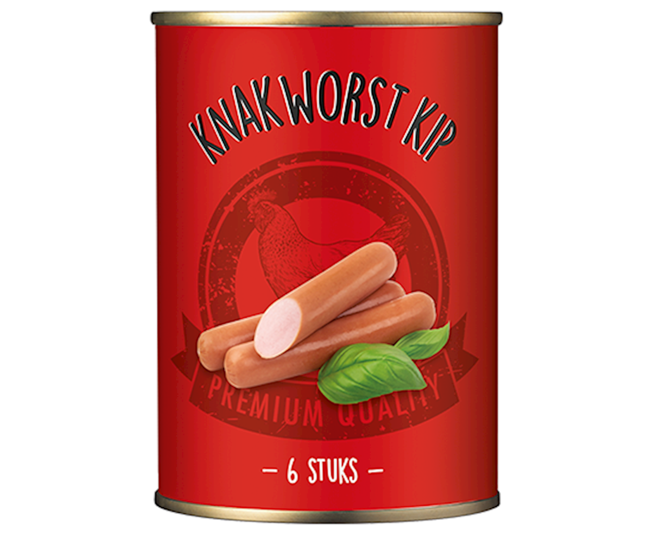 Productafbeelding Knakworst kip Rood 180g blik