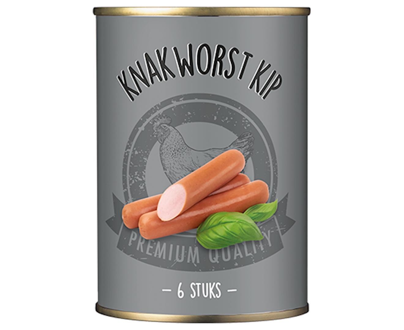 Productafbeelding Knakworst kip Zilver 180g blik